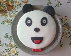 Bolo Decorado - Tema Panda