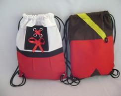 mochila chapeuzinho vermelho e lobo mal
