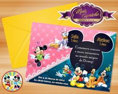 Convite Mickey e Turma Duplo