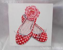 Caixa porta-j�ias mod sapatilha