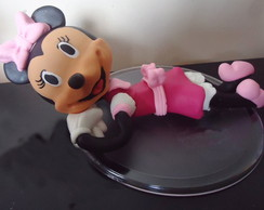 Topo de Bolo Minnie Rosa