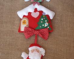 Enfeite de Porta - Natal - Papai Noel
