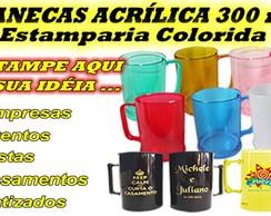 CANECAS DE CHOPP ACR�LICA - 300 ml