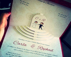 Convite de Casamento Vazado - Mod. Altar