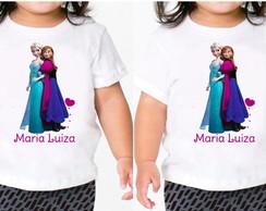Camiseta Personalizada Princesas Frozen