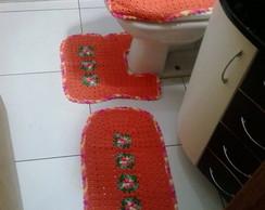 Jogo de banheiro flor rasteira