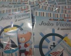 Kit Colorir urso marinheiro