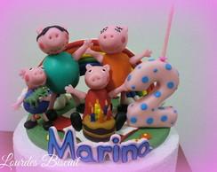 Topo de bolo - Anivers�rio da Marina