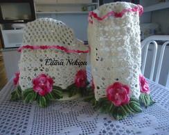 Capas com flores