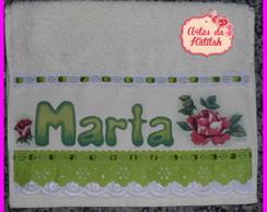 Toalha de m�o personalizada Marta