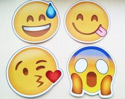 Kit Plaquinhas Emoji 20 unidades