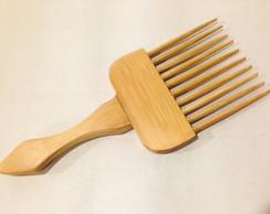 Pente garfo em bambu