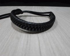 Bracelete Tran�ado Preto