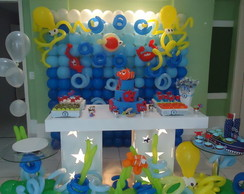decora��o fundo do mar clean com bal�es