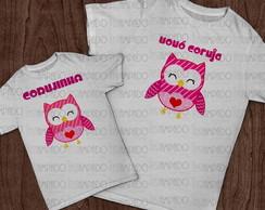 Kit de camisetas - Vov� Coruja
