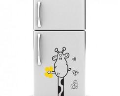 Adesivo Decorativo Geladeira girafa 2