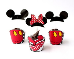 Whapper MINI Cupcake Mickey e Minnie