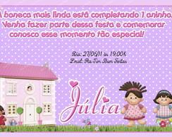 Convite tema bonecas