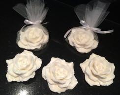 Sabonete artesanal Rosa Damascena