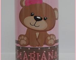 Cofrinho personalizado Urso marrom e ros