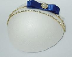 Faixa MARI azul royal perola/strass