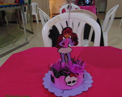 Centro de mesa monster high em EVA