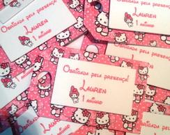 Mini tag de agradecimento Hello Kitty
