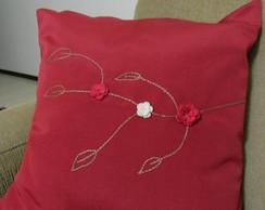 Almofada Florzinhas de croch�