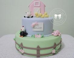 bolo fazendinha 2 andares + Topo