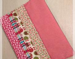 Porta Tablet em patchwork - Vermelho