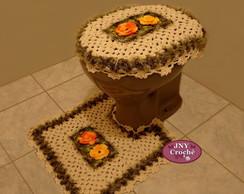 Jogo de Banheiro de Croch� Meu Jardim
