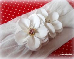 Faixa De Meia - Florzinhas - Branca