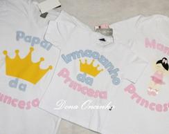Kit camiseta MAM�E E PAPAI e Irm�ozinho