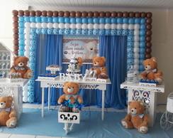 Decora��o ursos marrom com azul
