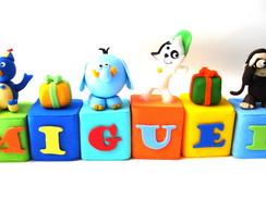 Cubinhos de Nomes Tema Discovery Kids