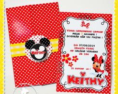 Convite Janela Minnie Mouse