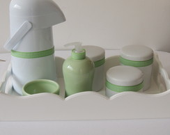Kit Xadrez Verde e Branco