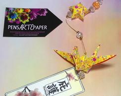 M�bile de Origami - Tsuru com Cristais 4