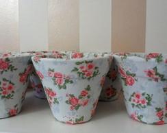 Vasinho floral (forrado com tecido)