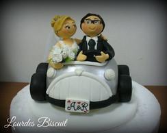 Topo de bolo - Casamento da Alessandra