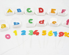 Kit forminha Letras/enfeites numeros