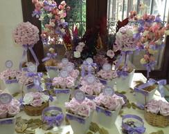Kit festa lil�s & topper agradecimento I