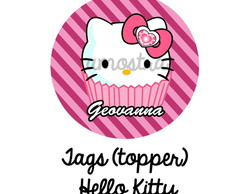 100 TAGs OU TOPPER - HELLO KITTY