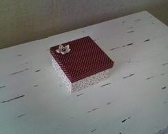 caixa biju tecido