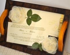 Bandeja de casamento (dourada)