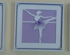 Trio Quadrinhos Vasados-Bailarina Lil�s