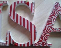 Letras em MDF Decorativa com Tecido