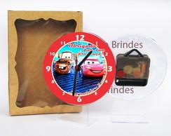Carros Pixar rel�gio centro de mesa