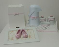 Kit Completo Rosa e Branco