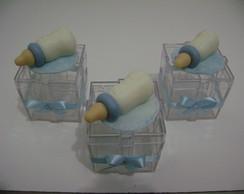 Caixa Acr�lico - Mamadeira Azul